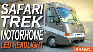 Brighter LED Headlight Upgrade For Safari Trek RV Motorhome - Installation And Comparison
