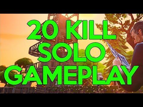 20 Kill Solo Gameplay! Fortnite Gameplay - Ninja