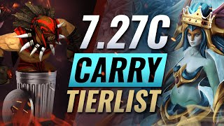New Update Best Carry Tier List Dota 2 Patch 7 27c Youtube