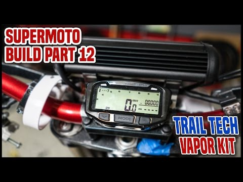 Adding a SPEEDOMETER to a DIRT BIKE [Supermoto Build Part 12]