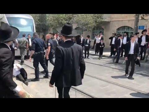 يهود متطرفون يتظاهرون تضامناً مع شاب رفض التجنيد بالجيش الإسرائيلي …