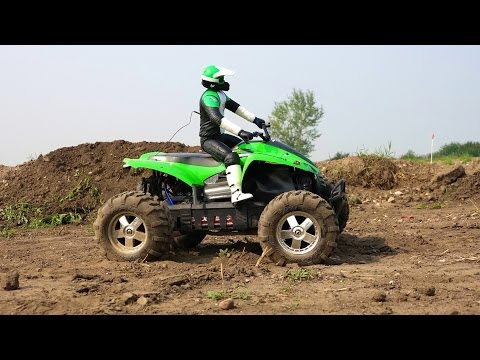 RC ADVENTURES - Kawasaki ATV & the SUPERMAN RAMP! 6s Lipo Savage Flux HP 4x4 MT