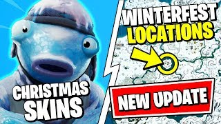 *NEW* Fortnite CHAPTER 2 CHRISTMAS UPDATE - ALL SKINS, WINTERFEST SEARCH HOLIDAY STOCKINGS, SNOW