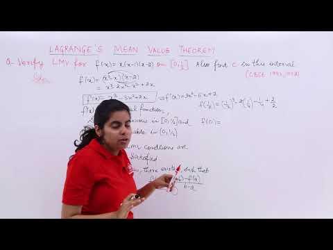 Problem 1 On Lagrange's Mean Value