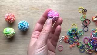 How to Make a Rainbow Loom Bands Bouncy Ball (With Captions)