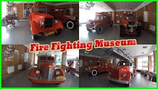 Exploring Fire Fighting Museum in Kiev 2017. Museum of Fire Trucks. Old and Rare Fire Trucks
