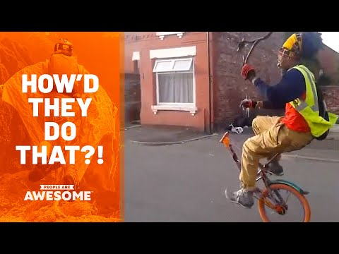 Extreme Unicycle Tricks, Fitness, Skateboarding & More | How'd They Do That?!