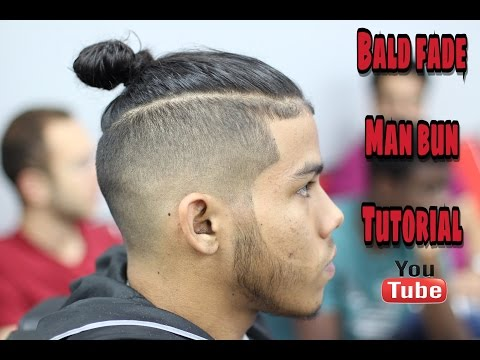Man bun with bald/skin fade step by step how to
