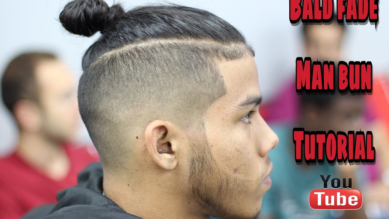 Man Bun With Baldskin Fade Step By Step How To YouTube