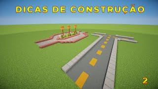 Minecraft: Dicas de Construção - 2: RUAS/ESTRADAS