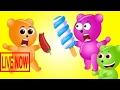 Mega Gummy Bear Kid crying eat Pepper Hotdog and Ice cream Finger Family Nursery Funny Rhyme C #RAA