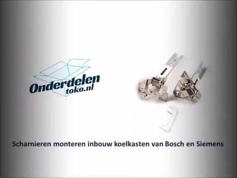Keuken Scharnieren Monteren : Scharnieren monteren inbouw koelkasten van bosch en siemens youtube
