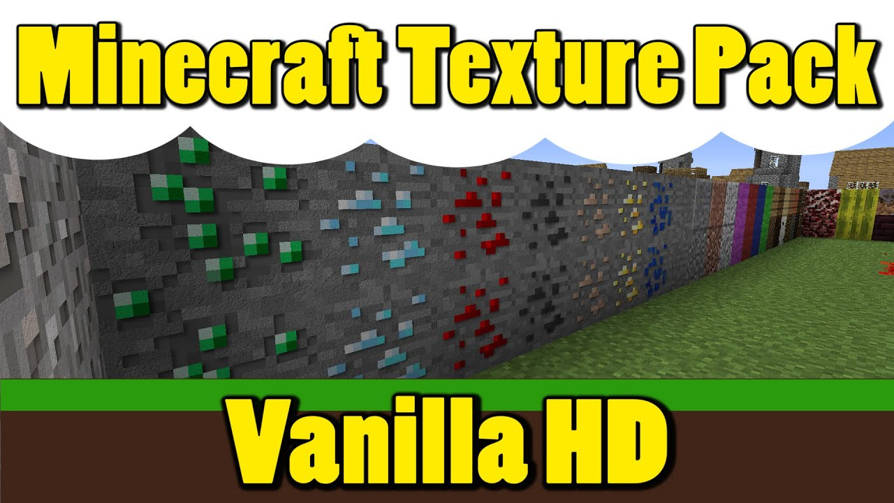 Minecraft :: Minecraft Texture Pack :: Vanilla HD 1.8 - YouTube