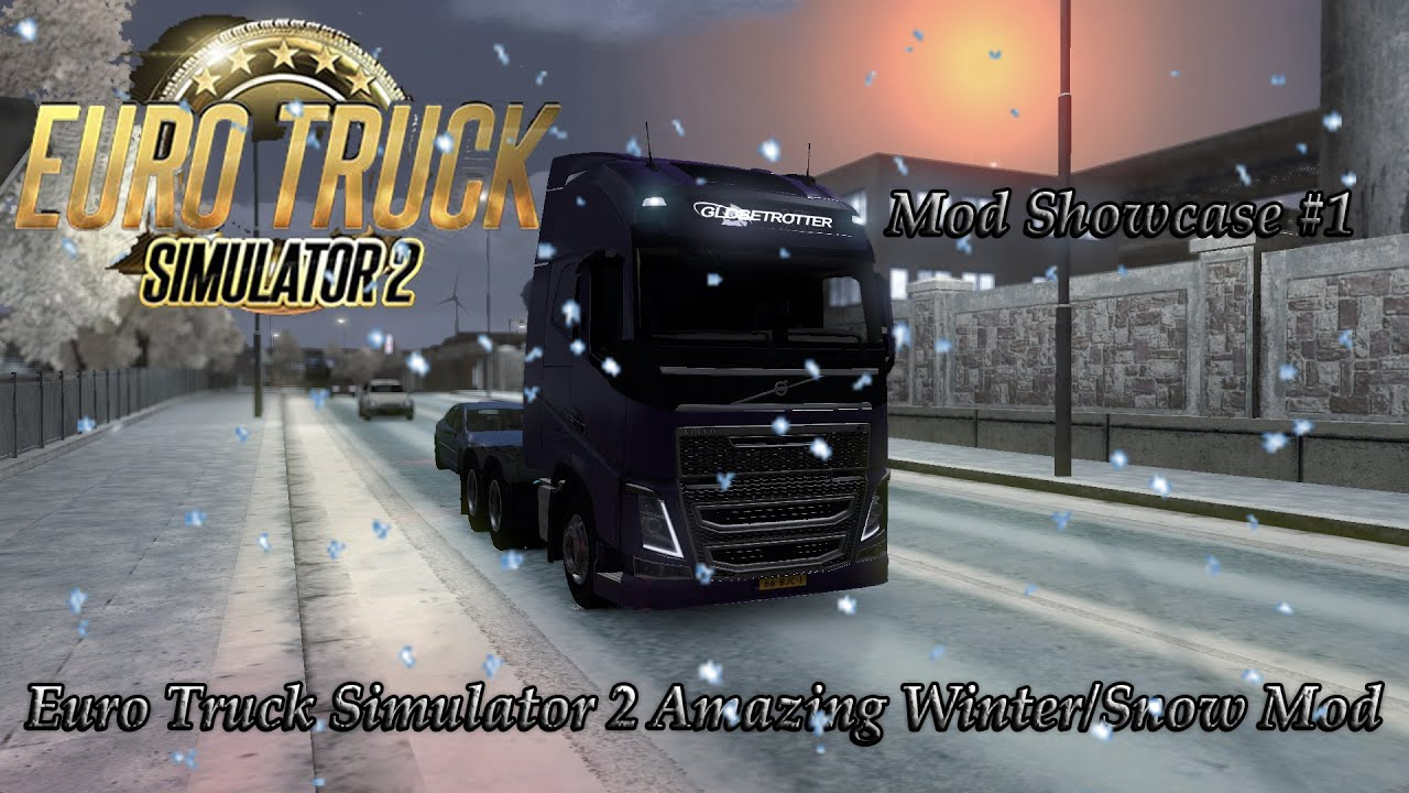Euro Truck Simulator 2 Amazing WinterSnow Mod Free Download