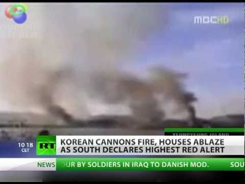 War? South & North Korea fire artillery shells, houses ablaze
