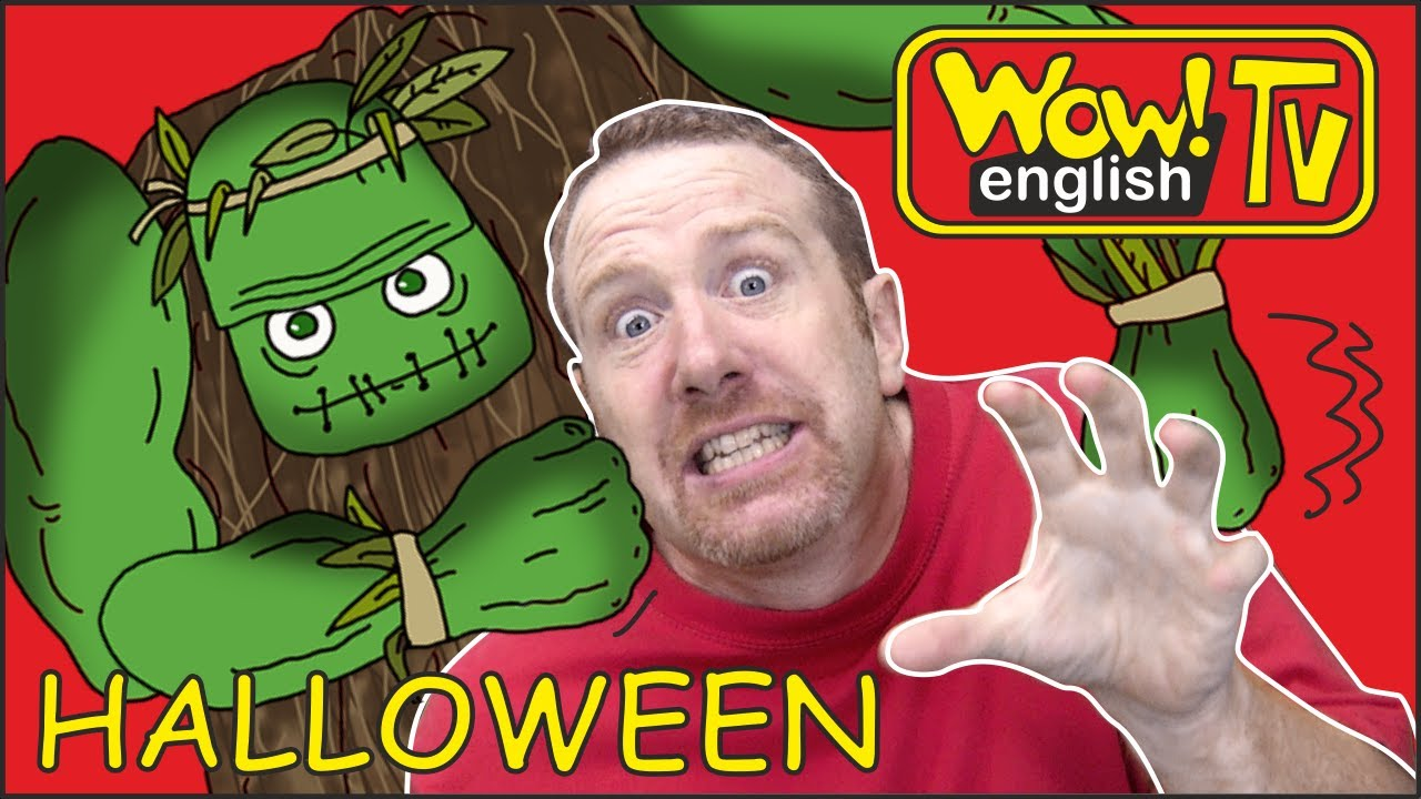 Download Halloween Spooky Haunted Dollshouse for Kids from Steve and Maggie | Learning Wow English TV Story