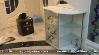 комод luxury(недорогой комод выполнен из белого ДСП фасады - зеркало в алюминиевой рамке стеклянные полки и изголовье..., 2013-01-14T08:39:23.000Z)
