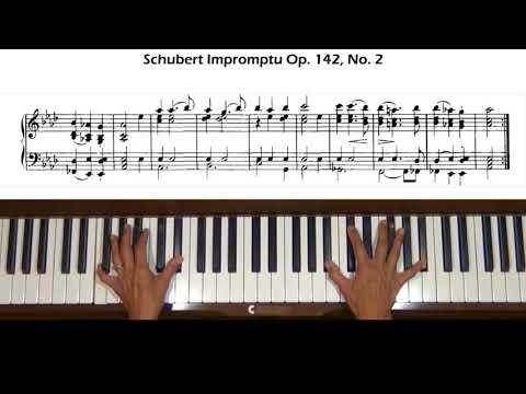 Schubert Impromptu Op. 142, No. 2 in A flat Major Piano Tutorial