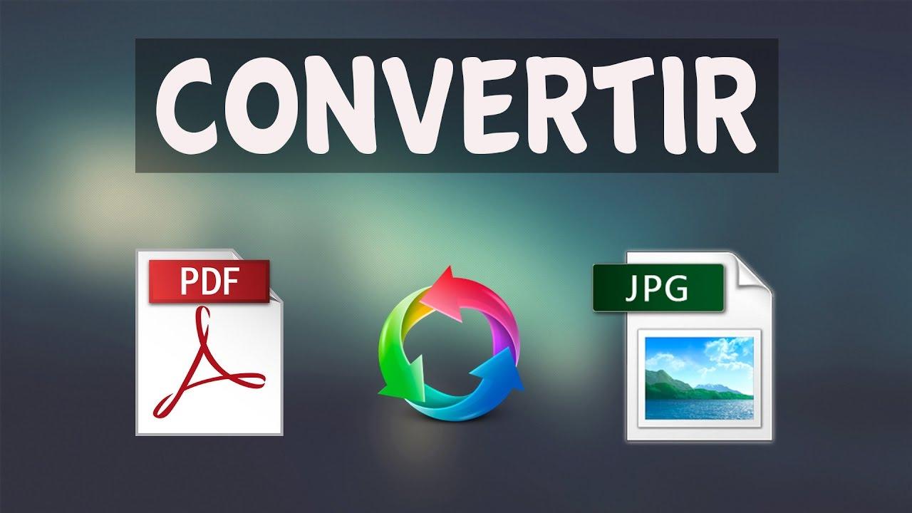 Como Convertir un Archivo PDF a JPG [Sin Programas] - YouTube