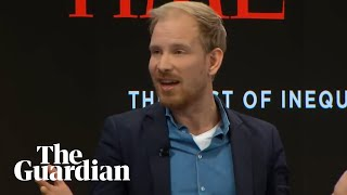Rutger Bregman tells Davos to talk about tax: 'This is not rocket science'