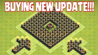 "Clash Of Clans - BUYING NEW UPDATE ""GEM SPREE"" (ALL SPELLS & UNITS)"