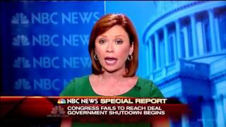NBC News Special Report - Federal Government Shutdown - 12:01am 10/1/2013