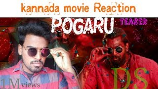 Kannada movie Reaction | pogaru | Teaser | Dhruva sarja