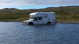 EarthRoamer crosses deep water in Iceland