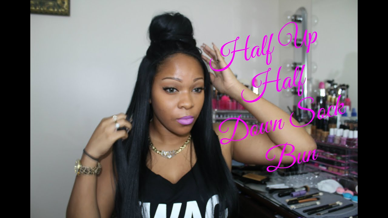 How To Rpgshow Wig High Bun Tutorial Half Up Half Down