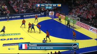 Гандбол. Ч.Е. Мужчины. Полуфинал. Франция-Испания. 24.01.2014