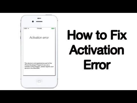 Activation Error Fix - iPhone, iPod, iPad - 10/6/2013
