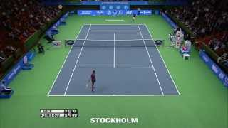 Grigor Dimitrov double hot shots at If Stockholm Open 2014