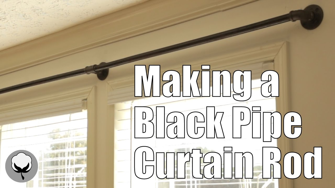 curtain rods that look like pipes