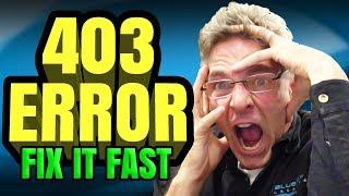 How To Fix 403 Error On My Website