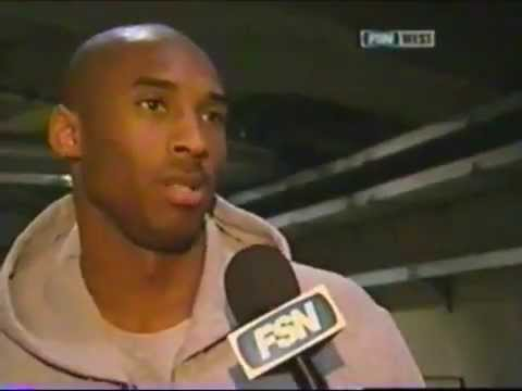 Kobe Bryant Age 25 Talks To Jack Haley About The Feud wHis Wife & Karl Malone Age 40 2004