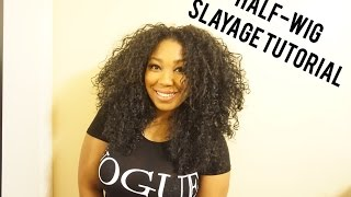 Slay your half wig styling tutorial ft Outre Penny