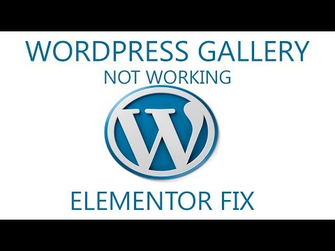 Wordpress gallery (Elementor) stopped working. Solution and quick fix.