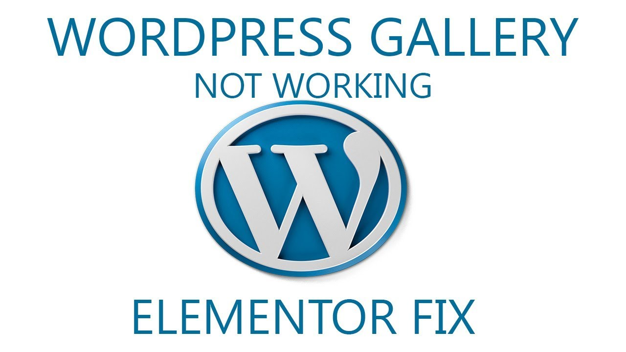 Wordpress gallery (Elementor) stopped working  Solution and quick fix