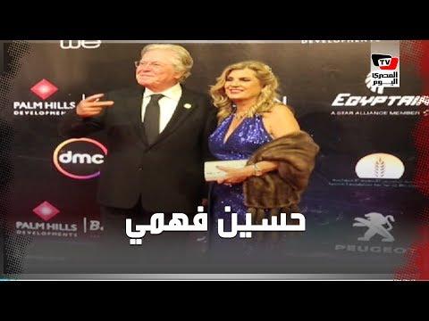 حسين فهمي يداعب المصورين ومادلين طبر على الريد كاربت بـ«القاهرة السينمائي»  - 23:58-2019 / 11 / 20