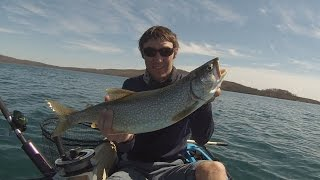 Kayak Lake Trout Fishing Round Valley Reservoir New Jersey