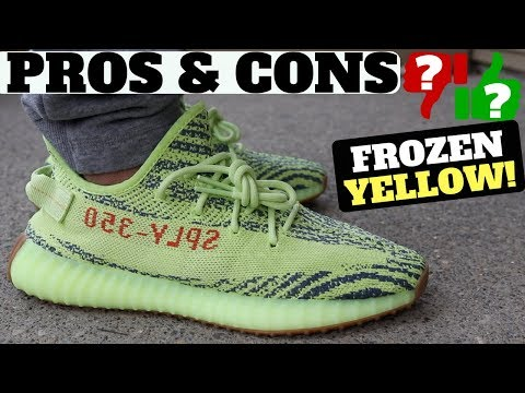 PROS & CONS: YEEZY Boost 350 V2 'Semi Frozen Yellow' Review & On Feet