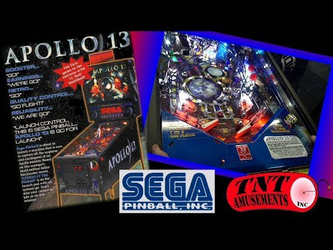 #1344  Sega APOLLO 13 Pinball Machine and Atari ASTEROIDS DELUXE going to Ireland-TNT Amusements