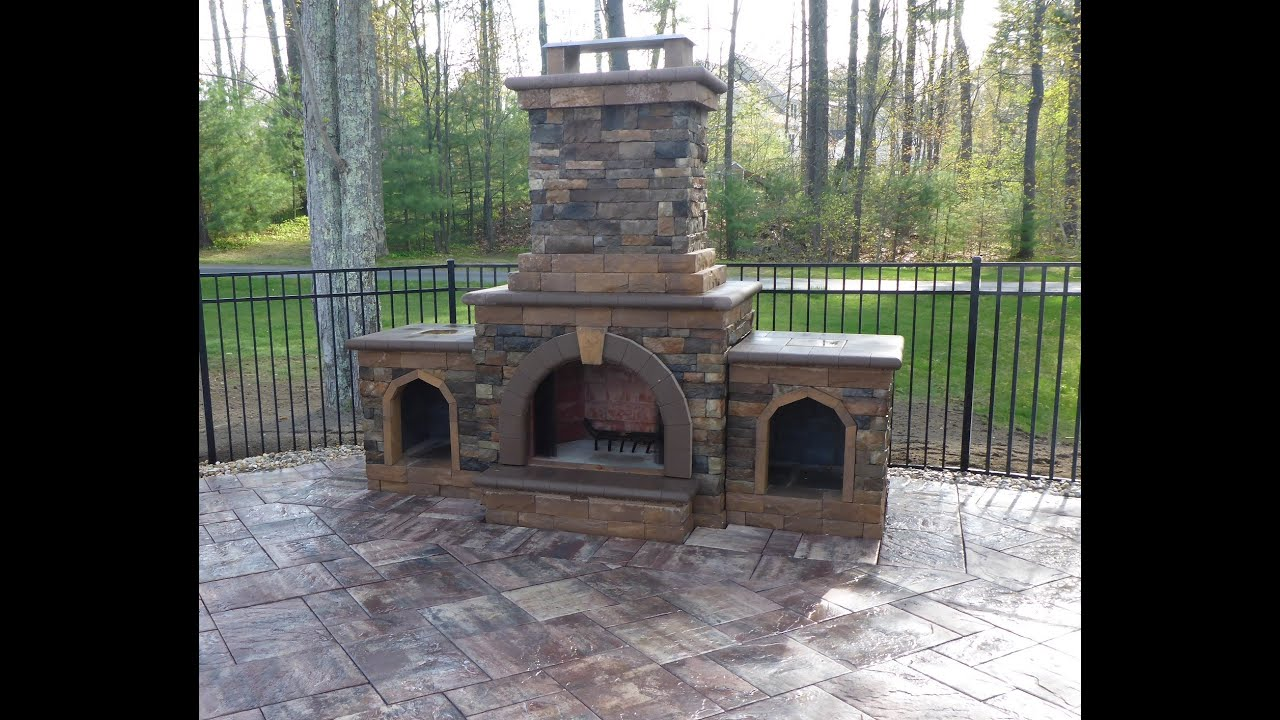 Outdoor Fireplace Contractors Outdoor Fireplace Construction Time Lapse Youtube