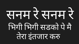 SanamRe SanamRe Hindi Lyrics हिंदी लिरिक्स Floating Lyrics to Sing by PK