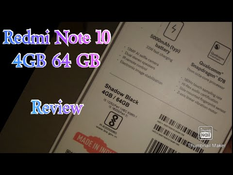 Redmi Note 10 4GB Ram Review || Redmi Note 10 4GB and 64Gb || Shadow Black Review