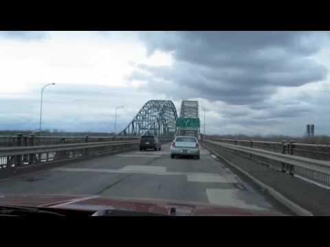 Montreal roads, the mercier bridge