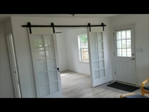 Converting Old French Doors To Barn