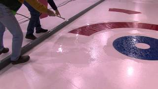 Installation of Curling Ice Mesh Circles -Thompson Rink Equipment