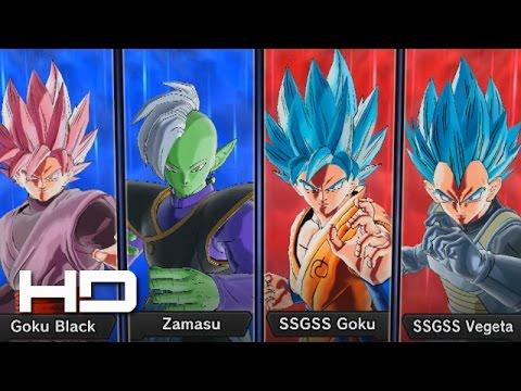 DRAGON BALL XENOVERSE 2 - Rose Goku Black & Zamasu VS Goku & Vegeta (English Dub) 1080p HD |
