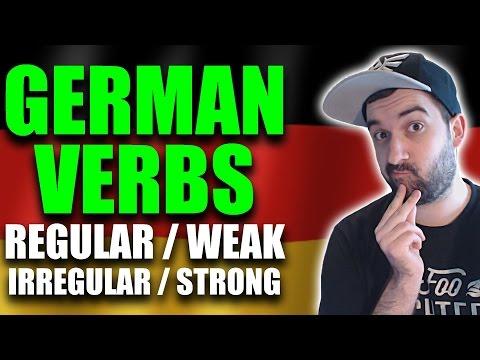 Learn German - Grammar Lesson   Regular VS. Irregular German Verbs (Weak & Strong Verbs)   VlogDave